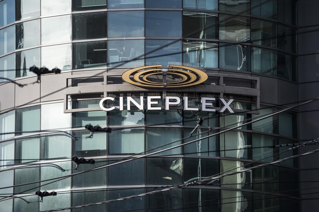 Cineplex Odeon Theatre at Dundas Square in Toronto on Monday, Dec. 16, 2019.
