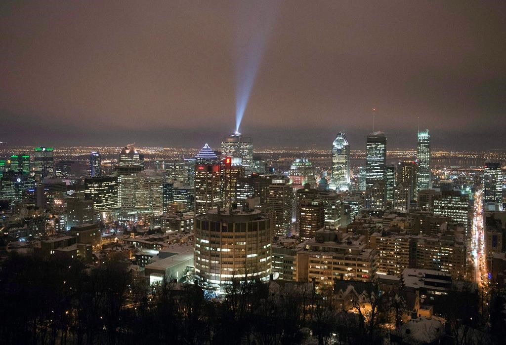 The downtown skyline is seen Wednesday, February 18, 2015 in Montreal. The city of Montreal has unveiled a 10-step roadmap towards relaunching its economy, including $10 million for the downtown core. THE CANADIAN PRESS/Ryan Remiorz.