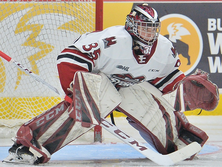 Nico Daws of the Guelph Storm has been drafted by the New Jersey Devils.