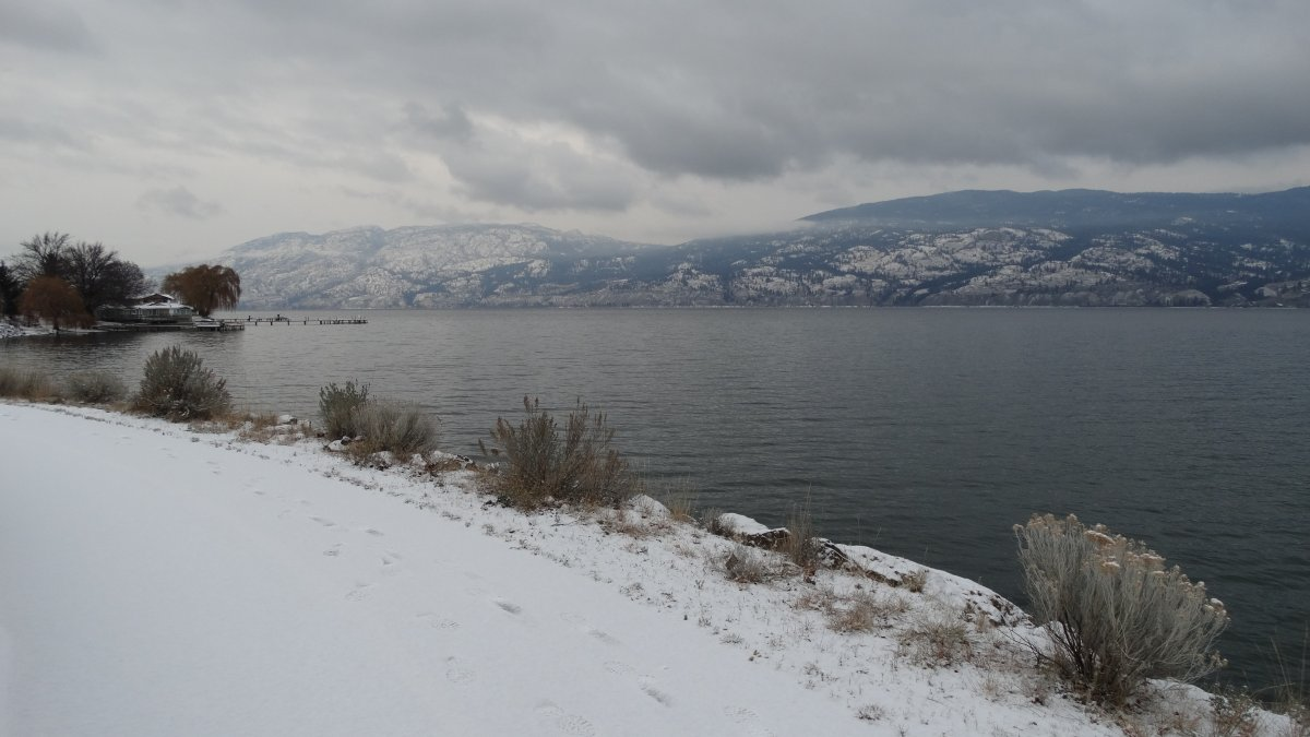 Sunday brought the first snowfall of the season to Penticton.