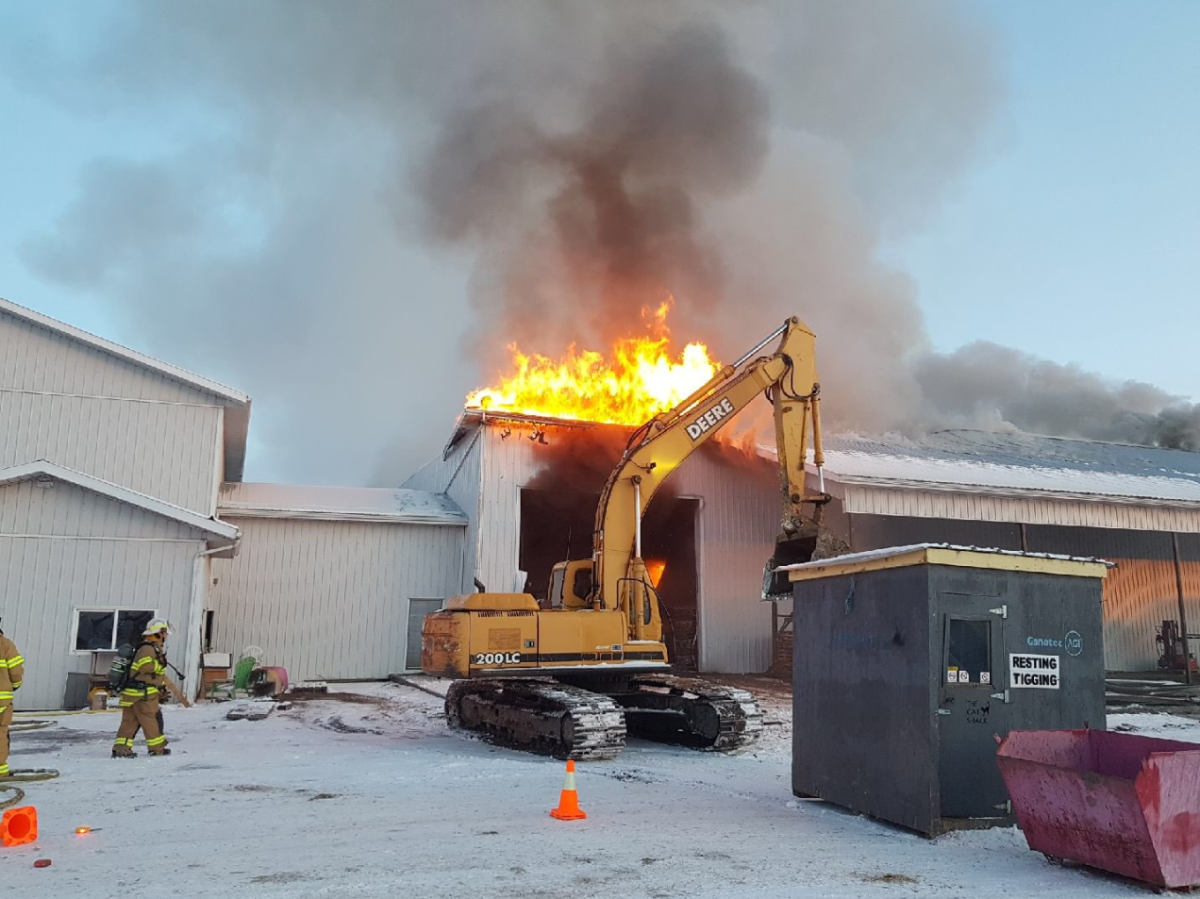 Crews responded to a fire in Parkland County on Tuesday, Dec. 17, 2019.