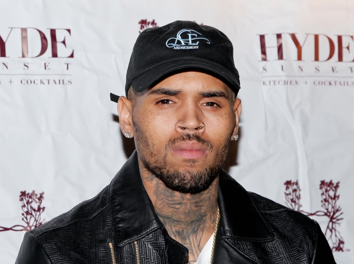 Chris Brown attends 'The Lost Warhols' Collection exhibit at HYDE Sunset: Kitchen + Cocktails on November 4, 2015 in West Hollywood, California.