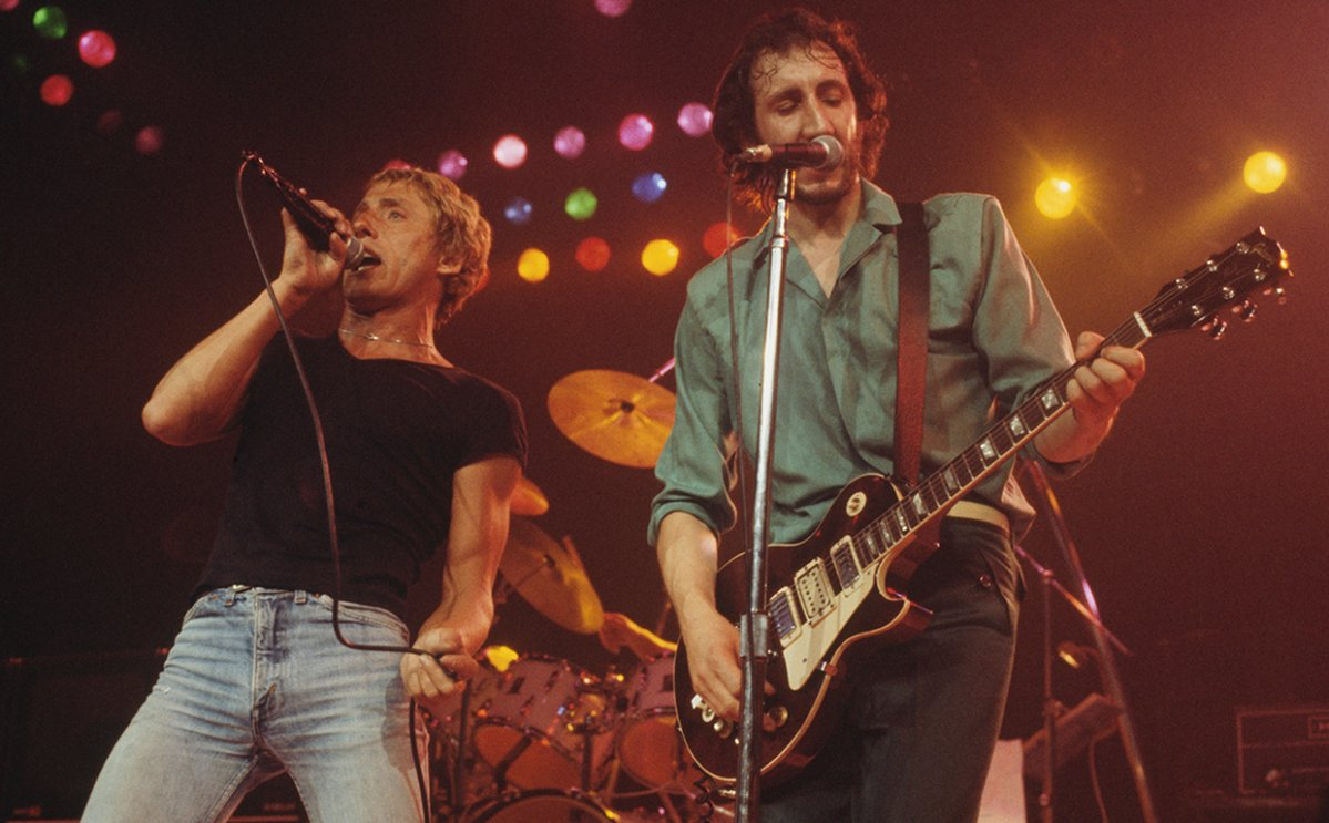 Roger Daltrey and Pete Townshend of The Who perform live on stage at the Capitol Theater, Passaic, N.J. on Sept. 10, 1979.