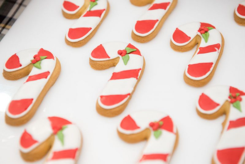 A view of holiday cookies on display at the opening of Hallmark's Museum of Christmas on November 14, 2017 in New York City.
