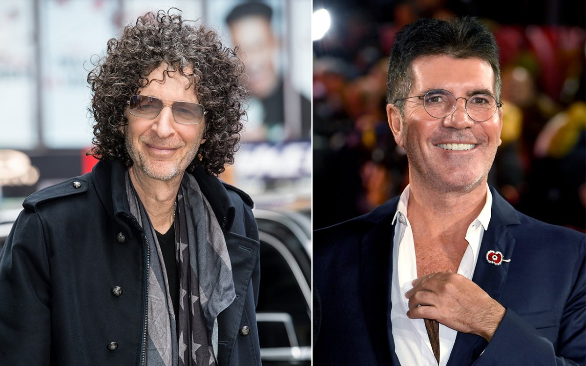 (L-R): Howard Stern and Simon Cowell.