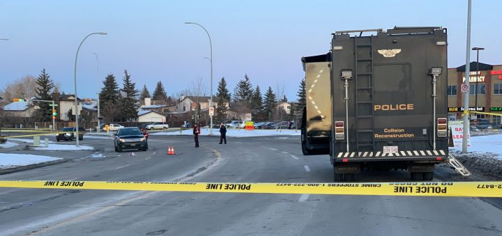 Police responded to crash in northeast Calgary on Thursday, Dec. 19, 2019.