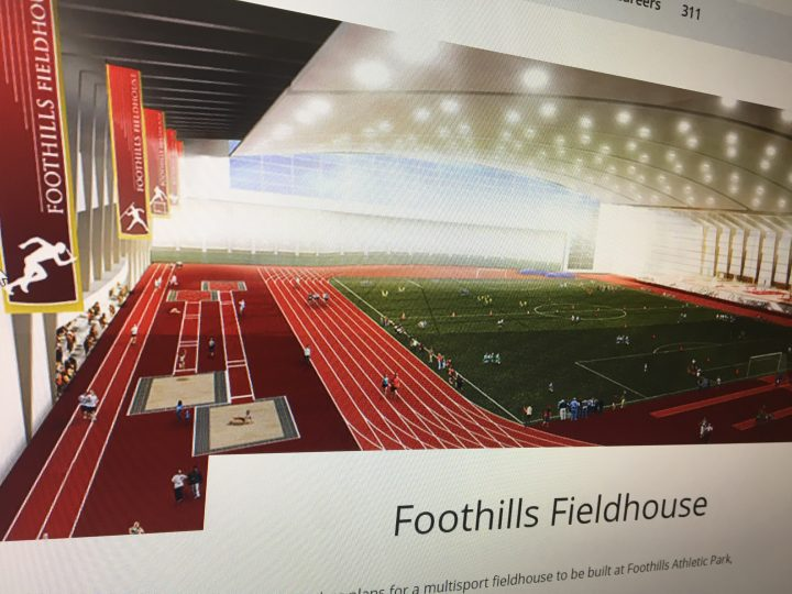 City of Calgary plans for new fieldhouse.