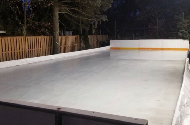 The backyard rink is built in Toronto.