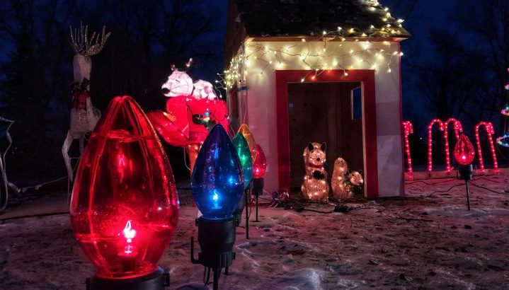 Local families, businesses and organizations helped decorate holiday light displays at River Park Campground in Weyburn, Sask.