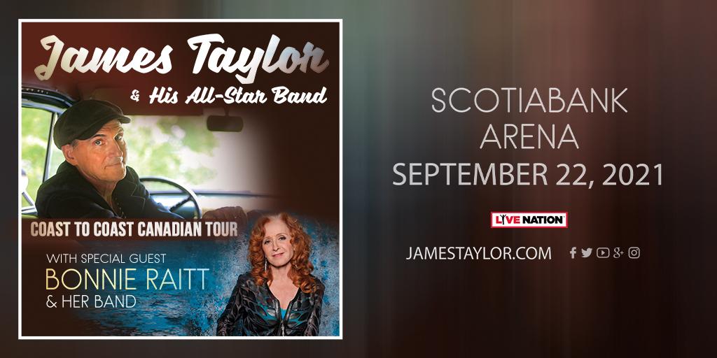 James Taylor with Special Guest Bonnie Raitt **RESCHEDULED** - image