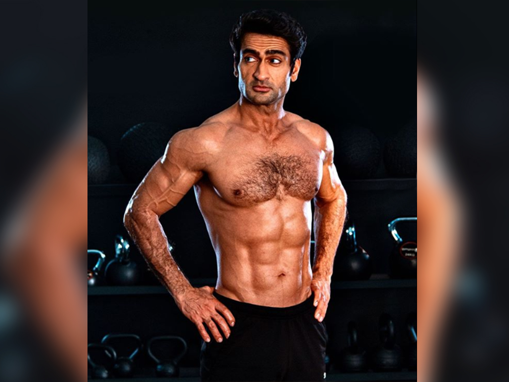 Kumail Nanjiani posted a photo on Instagram of his body transformation as the actor prepares to star in an upcoming Marvel film.