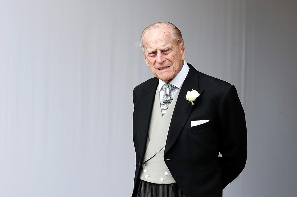 Britain's Prince Philip waits for the bridal procession following the wedding of Princess Eugenie of York and Jack Brooksbank in St. George's Chapel, Windsor Castle, near London, England on Oct. 12, 2018.