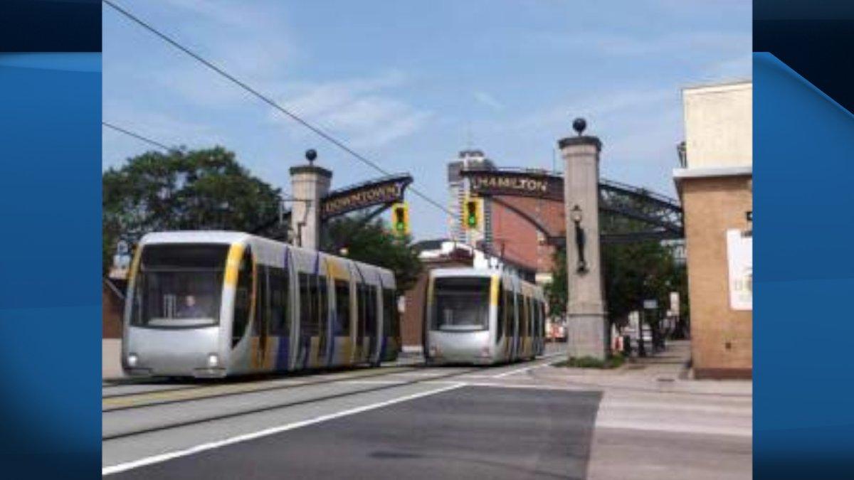 Artist rendering of Hamilton's LRT project.