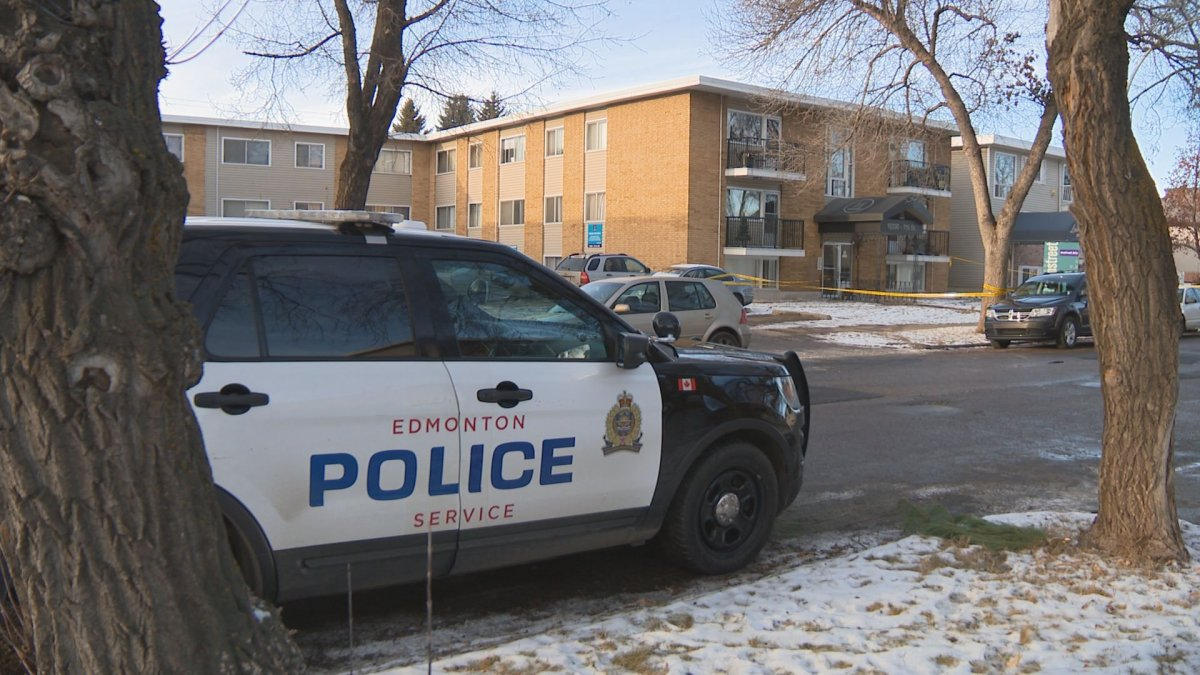 Edmonton police investigate a suspicious death in the area of 103 Avenue and 115 Street Tuesday, Dec. 3, 2019.