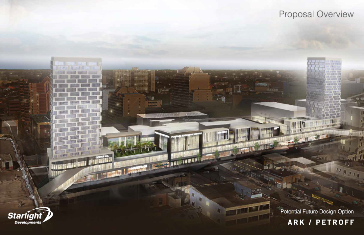 The proposed overview of the new development at Portage Place.