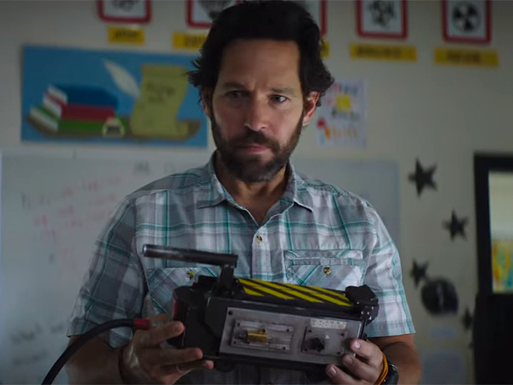 Paul Rudd in the first official trailer for 'Ghostbusters Afterlife.' The film is scheduled for a July 8, 2020 release.