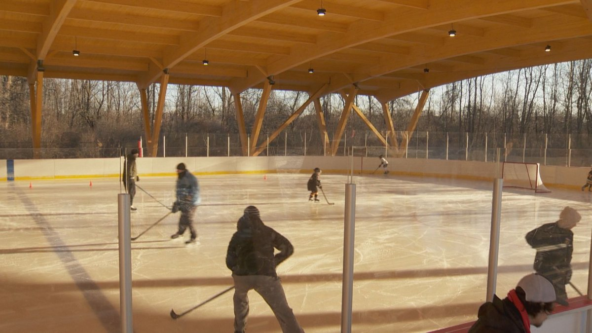 South Shore skaters enjoy the city's newly opened refrigerated ice rink.