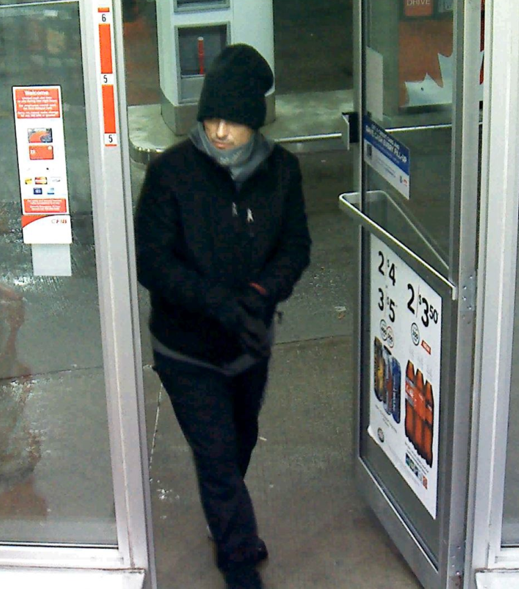 Police say this man is wanted in connection with two robberies at the Petro Canada on Bayers Road in Halifax.