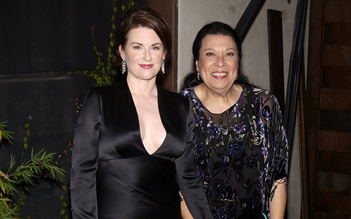 Megan Mullally and Shelley Morrison during the 'Will & Grace' 100th Episode Celebration at Falcon in Hollywood, Calif.