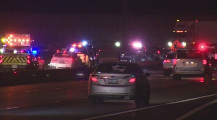 OPP say two young children suffered serious injuries after a multi-vehicle crash in Toronto.