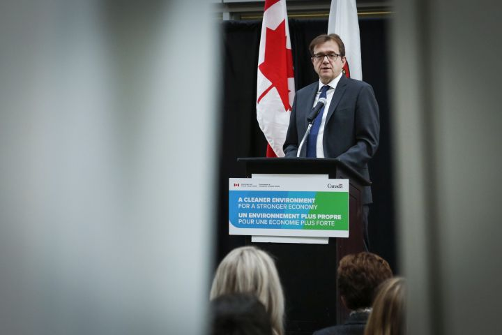 Federal Environment Minister Jonathan Wilkinson announces funding for climate action at the University of Calgary in Calgary, Alta., Tuesday, Dec. 17, 2019. THE CANADIAN PRESS/Jeff McIntosh.