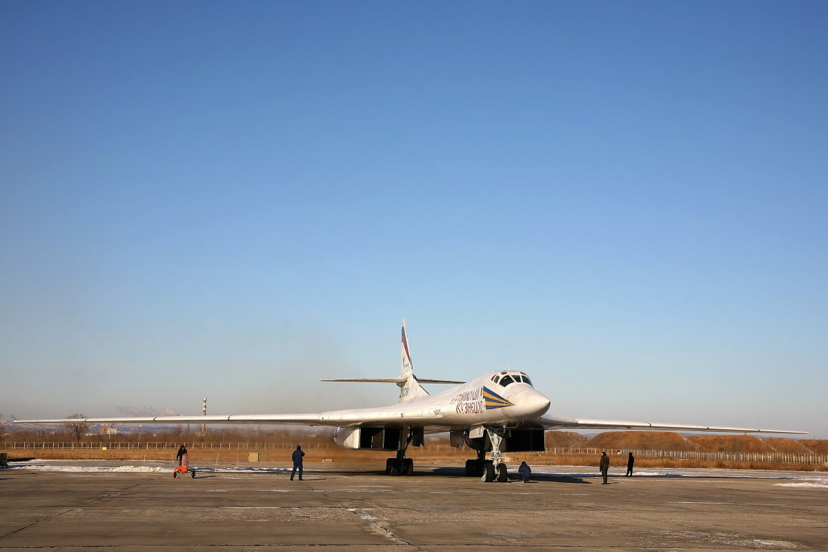 Tupolev Tu-160 (NATO reporting name: Blackjack) supersonic bomber at the Engels Air Force Base on Dec. 5, 2011.