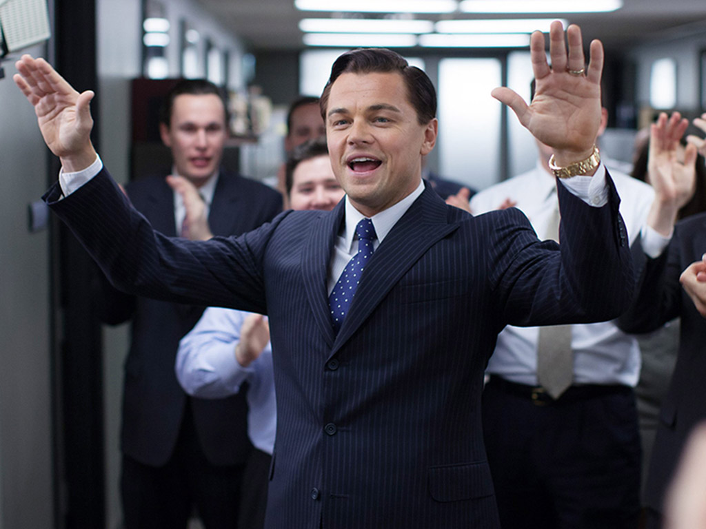 Leonardo DiCaprio in 'The Wolf of Wall Street' (2013).