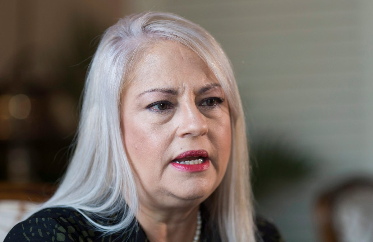 In this Aug. 16, 2019 file photo, Puerto Rico Gov. Wanda Vazquez speaks during an interview with the Associated Press at La Fortaleza, the official residence of the governor of Puerto Rico, in San Juan, Puerto Rico.
