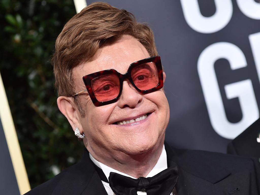 Elton John at the 77th Golden Globe Awards held at the Beverly Hilton Hotel.