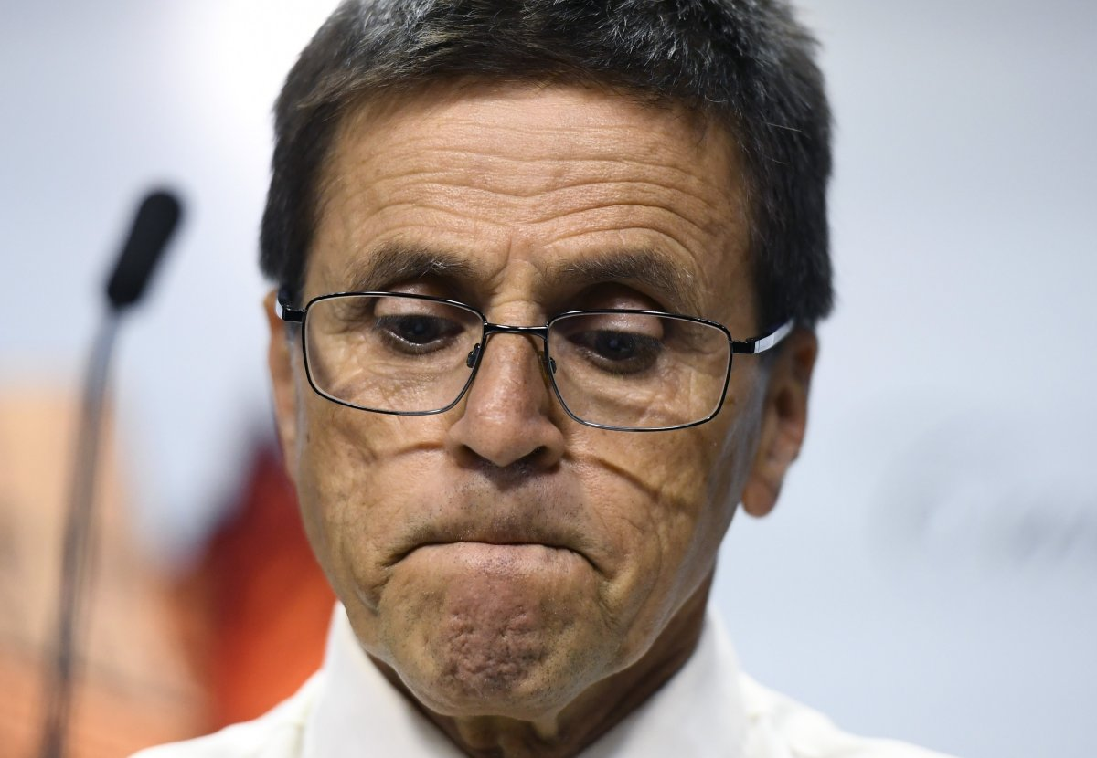 Hassan Diab attends a press conference on Parliament Hill in Ottawa on Friday, July 26, 2019. Diab is suing the federal government over his extradition to France on allegations of terrorism.