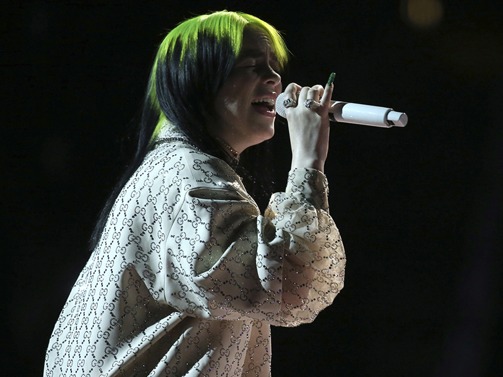 Billie Eilish performs 'When the Party's Over' at the 62nd annual Grammy Awards on Sunday, Jan. 26, 2020, in Los Angeles, Calif.