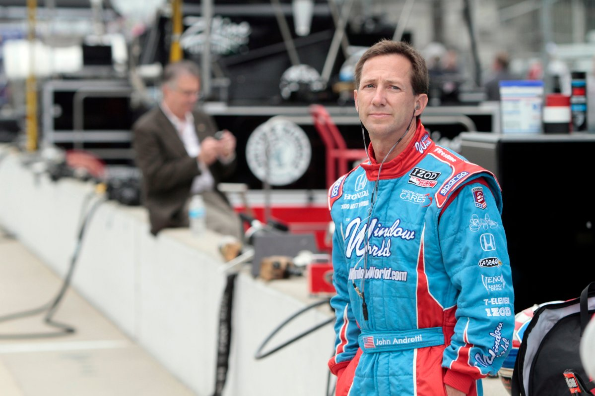 FILE - In this May 19, 2010, file photo, John Andretti watches during practice for the Indianapolis 500 auto race at the Indianapolis Motor Speedway in Indianapolis.