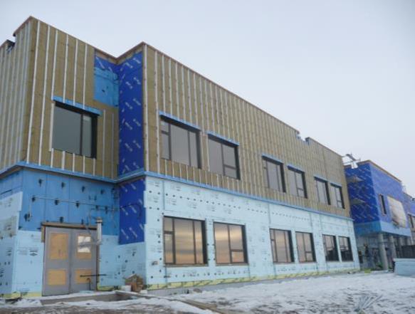 The new school under construction.