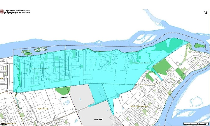 The sections in light blue are under a preventative boil water advisory. Wednesday, Jan. 8, 2020.