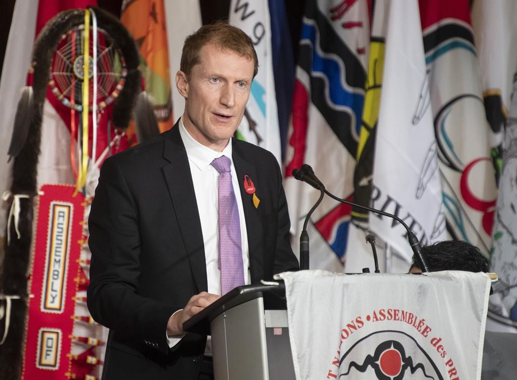 FILE - Indigenous Services Minister Marc Miller speaks at the AFN Special Chiefs Assembly in Ottawa, Tuesday, Dec. 3, 2019.