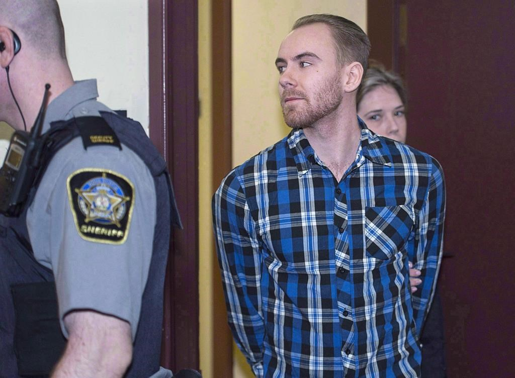William Sandeson arrives for the start of his preliminary hearing at provincial court in Halifax on Monday, Feb. 8, 2016.