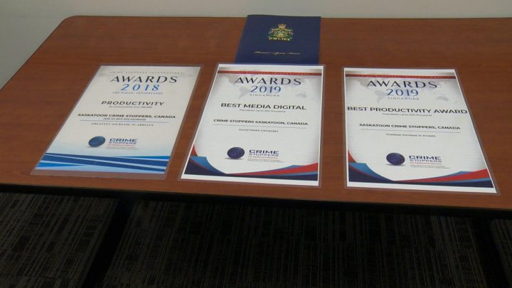 Saskatoon Crime Stoppers took home the Best Media Digital and Best Productivity awards at the Crime Stoppers International conference in Singapore.