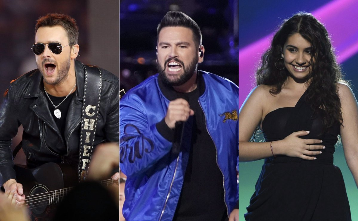 (L-R) Eric Church, Shay Mooney and Alessia Cara. All three musicians are set to headline Ontario's biggest country music festival, Boots & Hearts, in August 2020.
