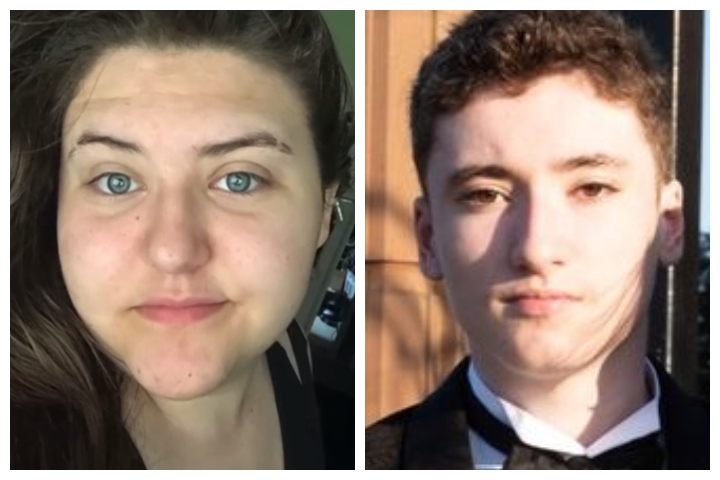 Dia Lathora, left, called police to help her British gaming friend, Aidan Jackson, on the right.