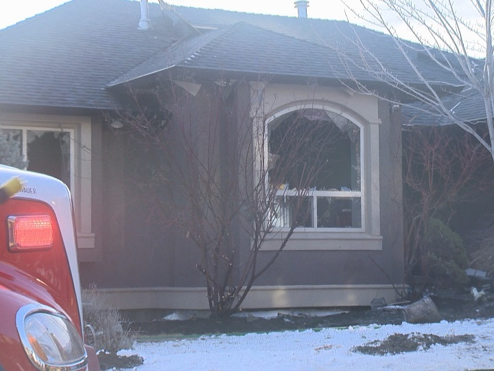 West Kelowna RCMP say a 36-year-old man from Kelowna suffered minor injuries in an morning house fire along the 2100 block of Ensign Quay on Thursday.