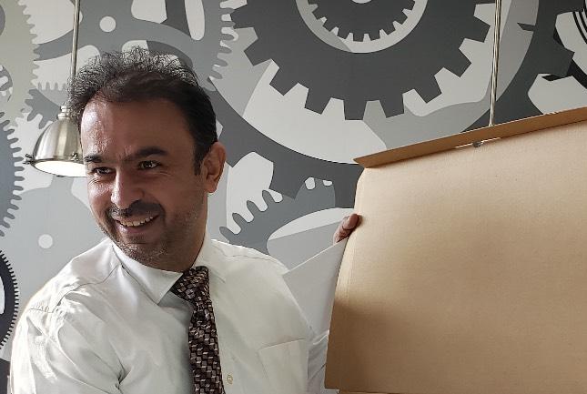 Alaa Senjab at the Service London Workshop at City Hall.