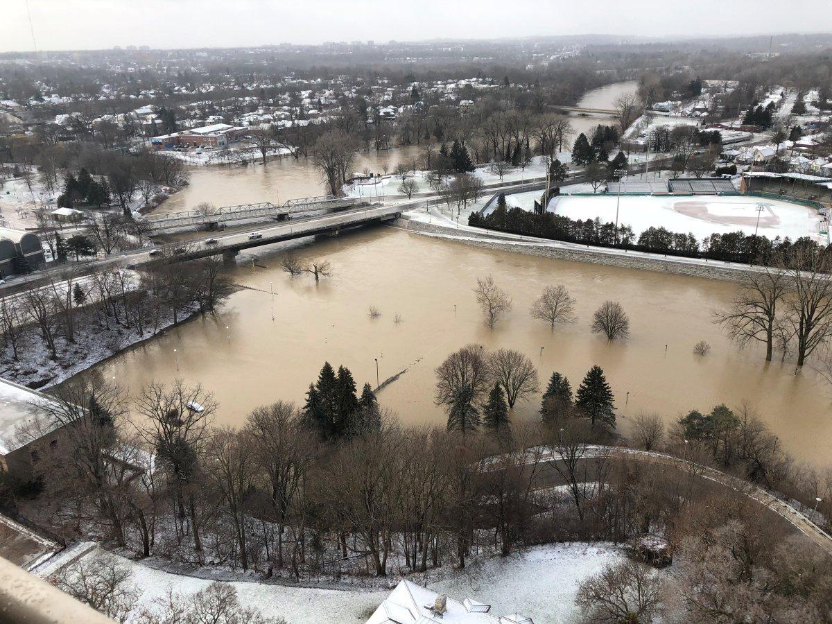 Flooding in Harris Park in London Ont. (Jan. 12, 2020).