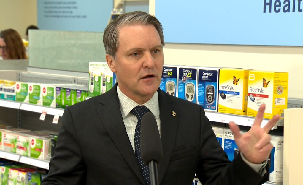 Manitoba Health Minister Cameron Friesen announced the province will partner with Shoppers Drug Mart to provide free counselling and products to people who want to quit smoking.