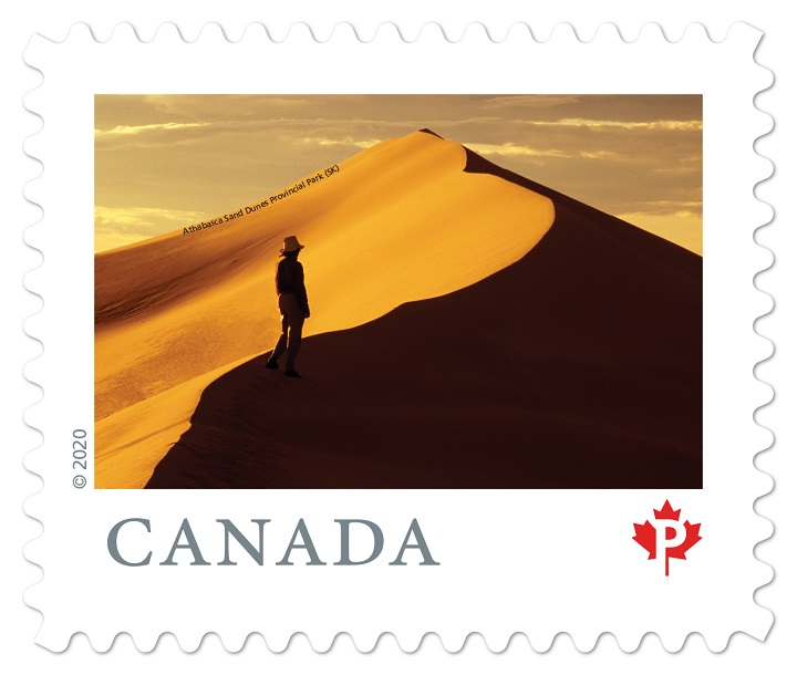 A new Canadian stamp features New stamp features the Athabasca Sand Dunes Provincial Park.