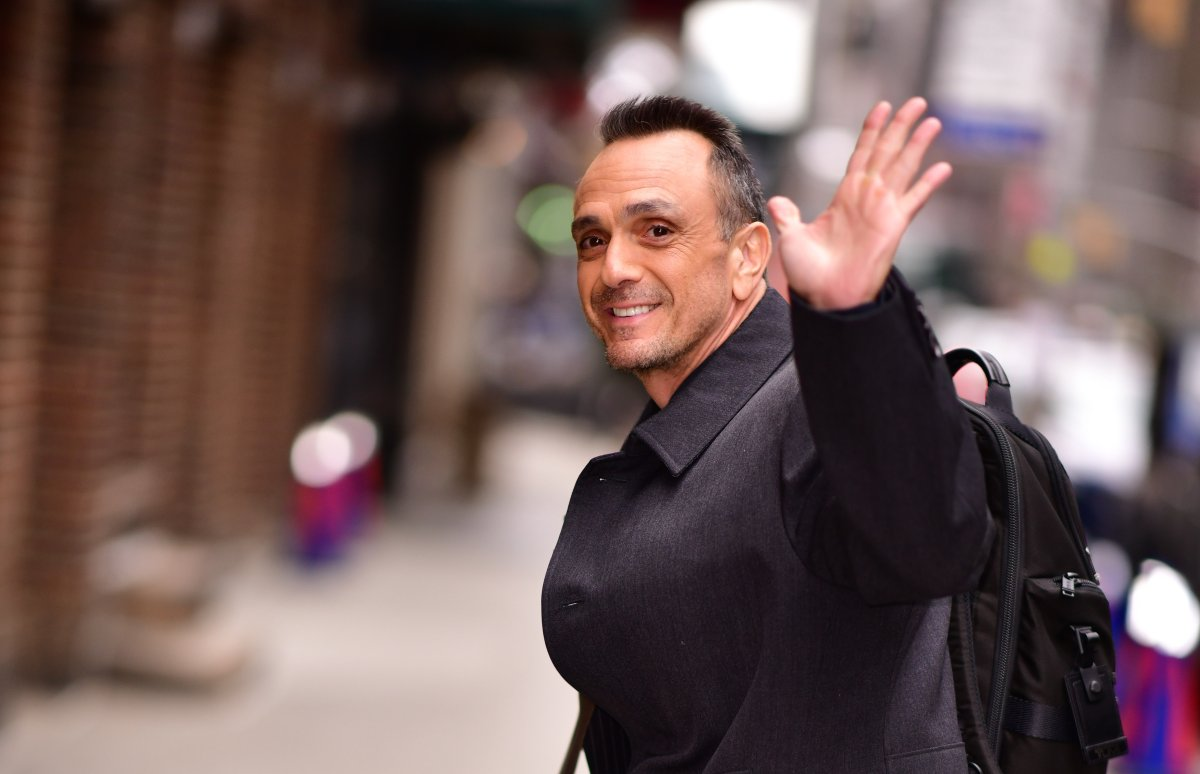 Hank Azaria arrives to 'The Late Show with Stephen Colbert' at the Ed Sullivan Theater on April 2, 2019 in New York City.