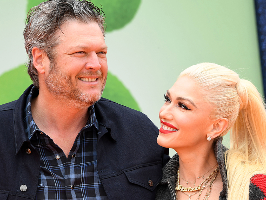 Gwen Stefani and Blake Shelton arrive at the STX Films world premiere of 'UglyDolls' at Regal Cinemas L.A. Live on April 27, 2019 in Los Angeles, Calif.