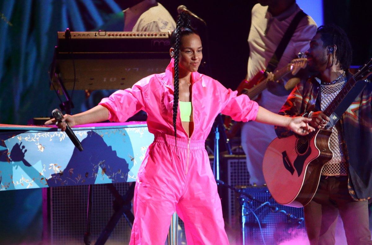 Alicia Keys performs onstage during the 20th annual Latin Grammy Awards at MGM Grand Garden Arena on Nov. 14, 2019 in Las Vegas, Nev.