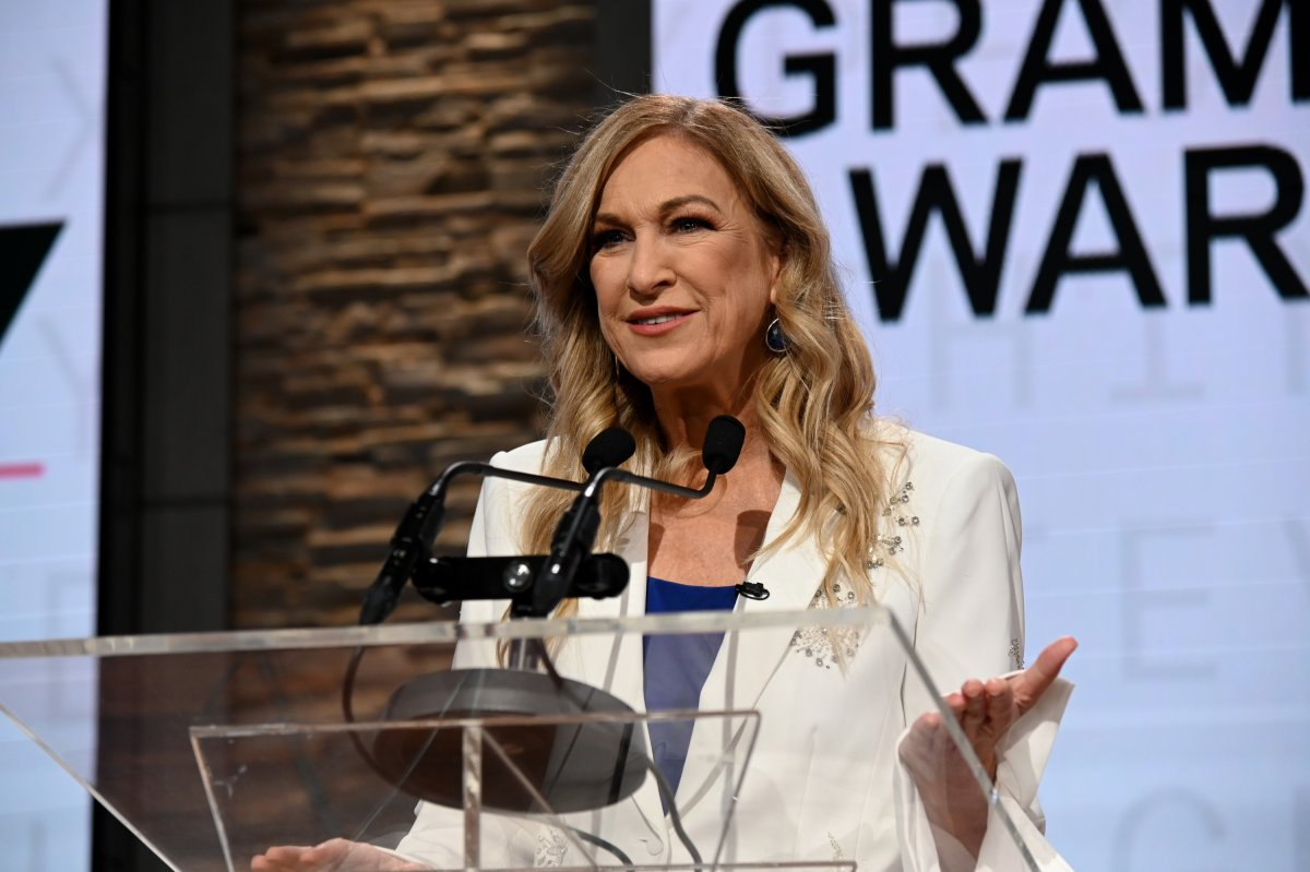Recording Academy president and CEO Deborah Dugan and Chair speaks onstage at the GRAMMY Nominations Press Conference at CBS Studios on November 20, 2019 in New York City.
