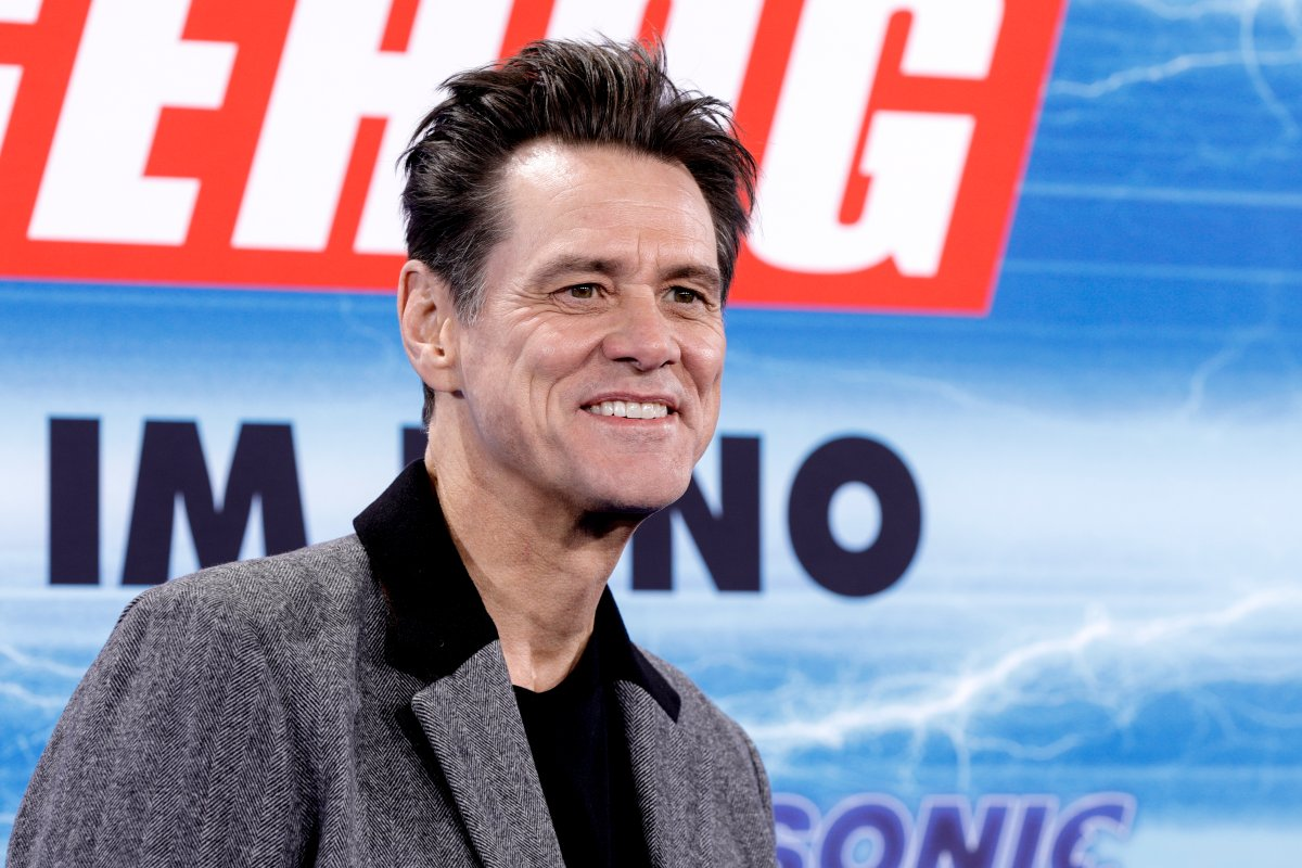 Jim Carrey attends the premiere of 'Sonic the Hedgehog' at Zoo Palast on Jan. 28, 2020 in Berlin, Germany.