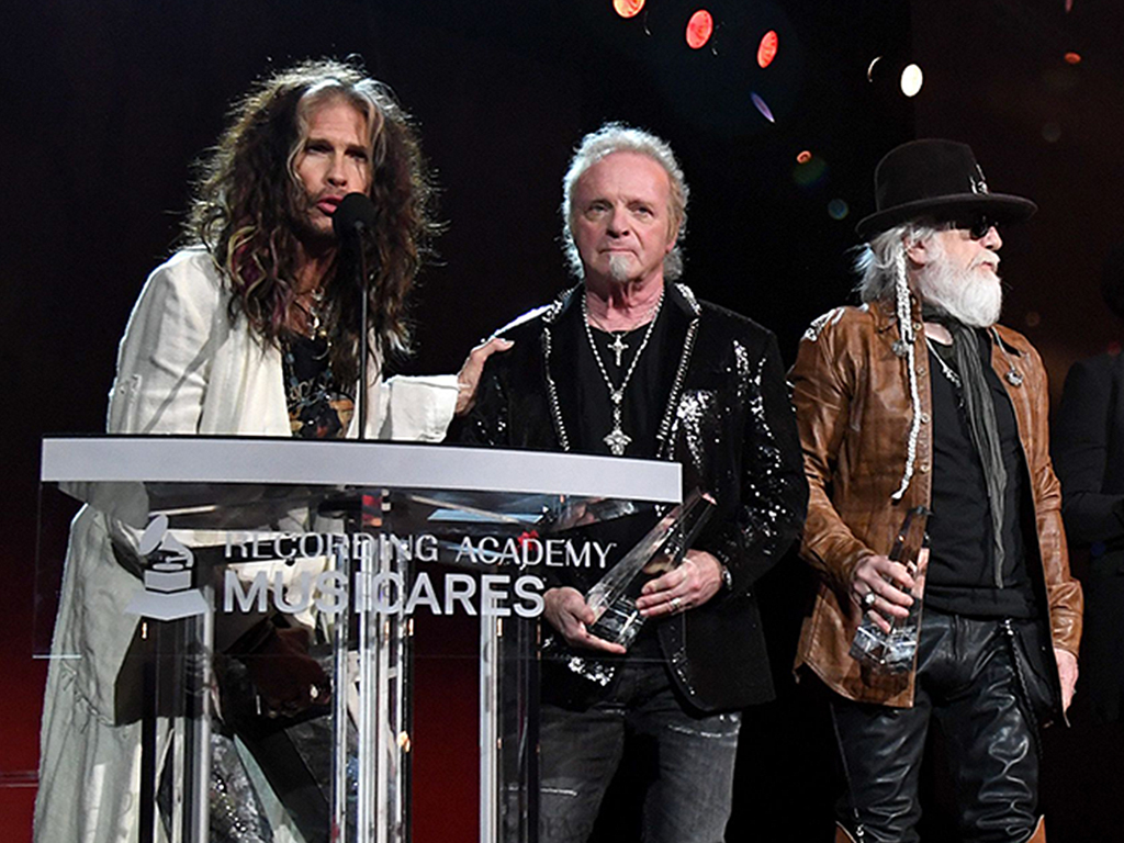 Aerosmith was recognized tonight as the 2020 Person of the Year at MusiCares.